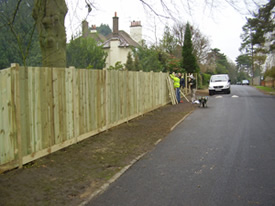 Erecting new fencing